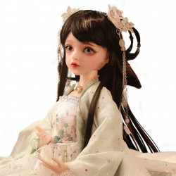1/3 BJD Doll 60cm 23.62 inch Ball Jointed Doll DIY Toys with Clothes Shoes Long Black Wig Makeup Accessories Having Different Movable Joints SD Doll Set for Girl as Gift