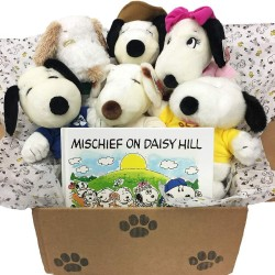 6 Snoopy Peanuts Daisy Hill Puppies Set and a Free Mischief on Daisy Hill Hardcover Book